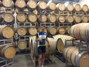 Tapping barrels at Black Hills Estate Winery